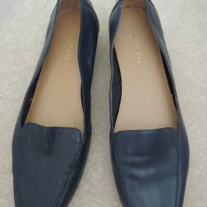 Ladies Shoes Size 8M Navy Blue Slip On Loafer Flat